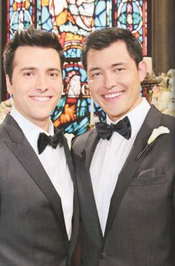 Soap Opera Digest publicity shot of PaulSon wedding